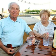 Enjoying a night out at McGillicuddy's in Loch Arbour over the weekend were John Huss of Ocean Township and Shirley Spivack of Flemington.