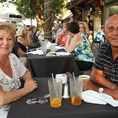 Enjoying themselves at Sea Grass in Ocean Grove were Barbara and John Baziotis of Ridgewood Sat., June 15.