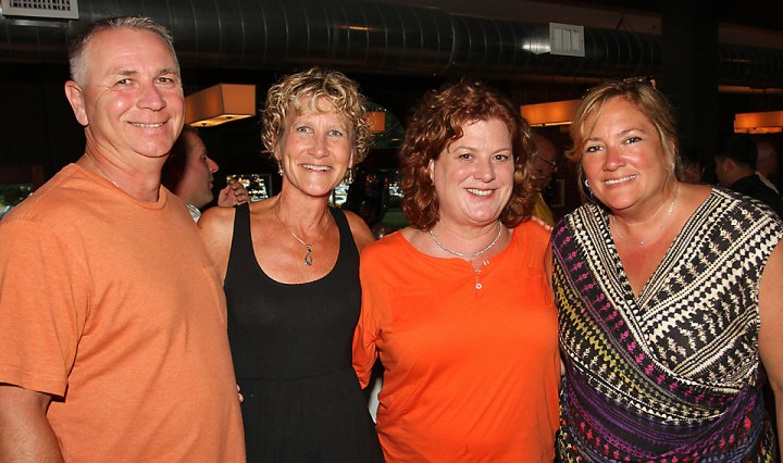 At Ivan and Andy's Steakhouse in Asbury Park were Charlie Mannino and Janice Mannino, both of Ocean Township. Barb Gruda of Freehold and Kerry McAteer of the Shark River Hills section of Neptune.