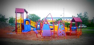 This new playground equipment has been installed on Springwood Avenue in Asbury Park. COASTER photo.