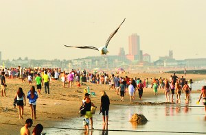 A smoking ban is being planned for the Avon beach. Coaster file photo.