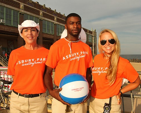Asbury Park boardwalk ambassadors helping visitors and residents with questions were Deva Lione, Oakhurst; Troy Herbert, Asbury Park and Julia Warnock, Allenhurst.