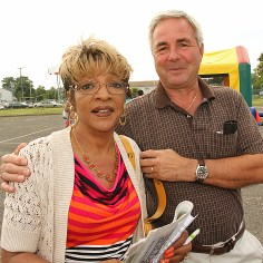 Asbury Park City Councilman John Moor is pictured with Wanda Pettiford.