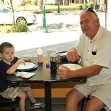 At Bing's in Avon were Dennis Gannon of Avon with Sean.