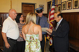Dowling being sworn in