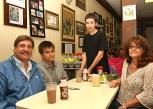 At Carmela's Luncheonette in Neptune Brandon Healey waited on John Baccarella (left), Ryan Baccarella and Theresa Baccarella, all of Tinton Falls.
