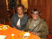 Joyce Bradley and Ella Ford, both of Neptune, were at the prayer breakfast at the First United Methodist Church in Asbury Park.
