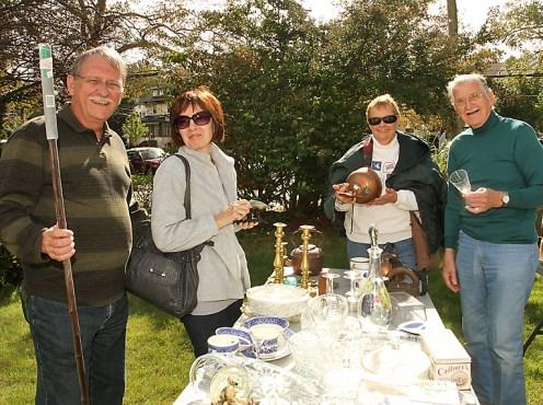 At the garage sale at Sunset Landing in Asbury Park were Frank Sharples, Barbara Sharples, Cinnaminson; Dale Sanford, Jackson Township and Joe Hickey, Marlton.
