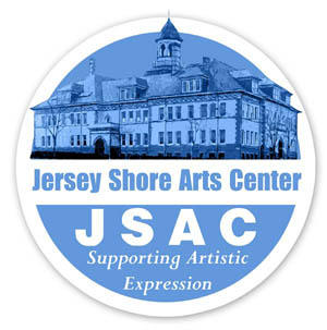 JSAC logo. Pictured at top is the interior at Christmas.