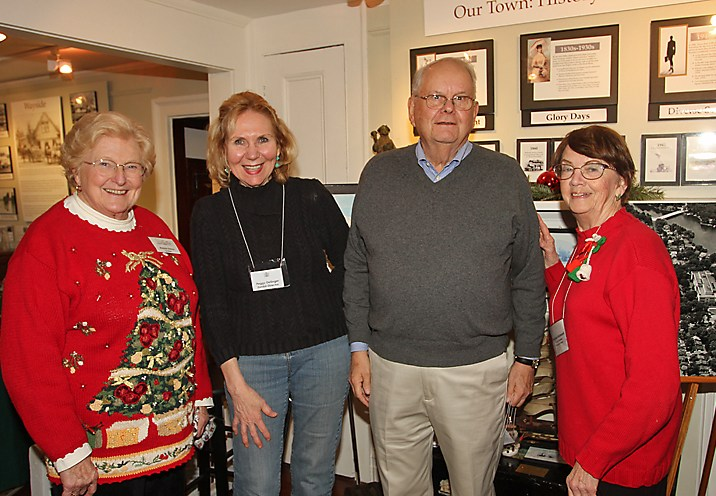 The current exhibit at the Ocean Township Historical Museum is all about Asbury Park. Pictured at the exhibit are Marjorie Edelson, Peggy Dellinger, Paul Edelson and Virginia Richmond.