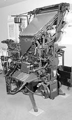 Press linotype machine