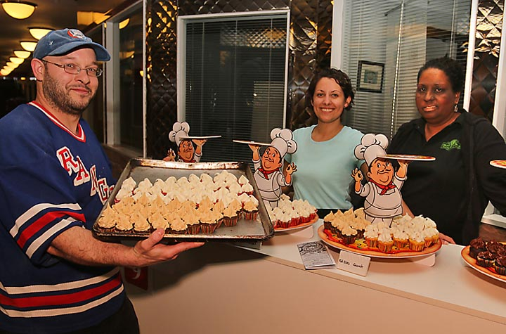 On the Restauranat Tour at Crust and Crumble in Asbury Park were Luke Ortega, Emily Witman and Crystal Ortega. The Crust and Crumble's popular cupcakes were featured.