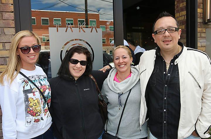 On the Interlaken kitchen tour were Pam Silvain, Interlaken; Amy Kannatt, Neptune City; Joyce Kenney, Interlaken; Jodi Heinz, Interlaken and Christine Levy, Wayside. The photograph was taken outside Taka on Mattison Avenue in Asbury Park.