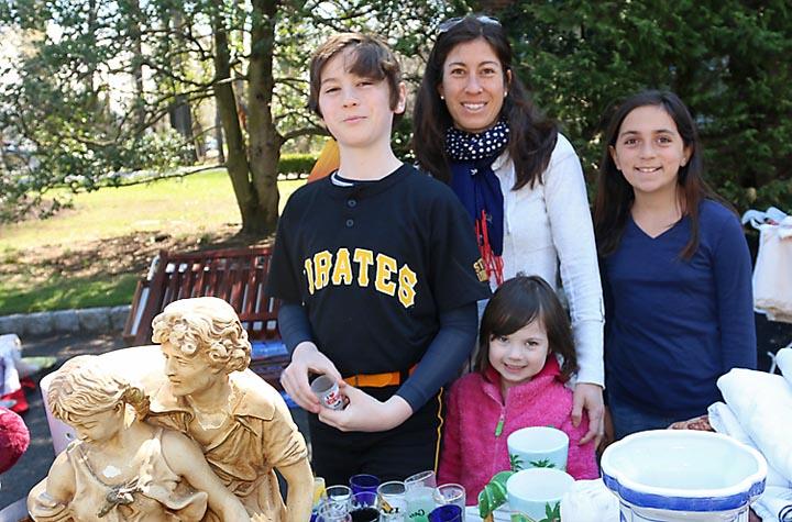 At the Interlaken yard sale last week were Hana Wolf with Robbie, Sofia and Emi, all of Interlaken.