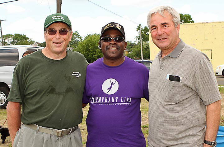 Patrick Durkin, Greg Hopson and Asbury Park City Councilman John Moor were at the Safe Summer Event in Asbury Park.