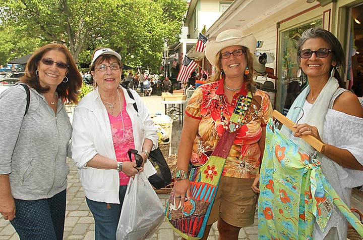 Spotted outside the Ocean Grove Trading Company were Mary Ann Rabaglia, Monroe, N.Y.; Mary Chuquette, Freehold; Janis Gianforte, Farmingdale and Aida Kaplowitz of the Ocean Grove Trading Company.