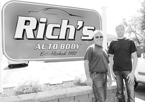 Coaster Photo - Rich Crompton Sr. and his son, Rich Jr., operate Rich's Auto Body in Asbury Park established in 1982.