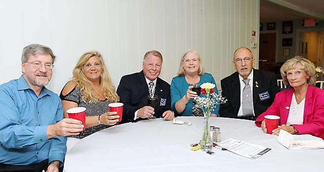 The Knights of Columbus in Neptune held its installation dinner Sat., Sept. 13. Pictured were Richard Jarosz, Laurie Saccani, Joseph Lynch, June Lynch, Herb Hagmann and Geri Vesnesky.