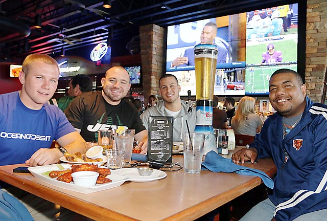Catching all the NFL action on Sunday at the East Coast Cookery in Neptune were Ryan Sherman, Asbury Park; Todd Kelly, Neptune; Chris McCarthy, Ocean Township and Steve Graham, Neptune.