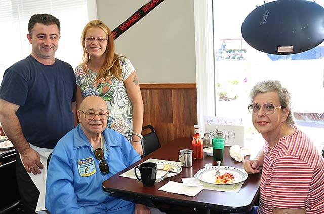 At the Neptune City Diner were Ben and Barbara DiGironino of Neptune City and Andy Tompas and Mechelle Combs of the newly-opened diner.