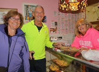 Andrea and Jeff Hines were purchasing some sweet treats from Ava Okuniewicz at the Ocean Grove Bakery.