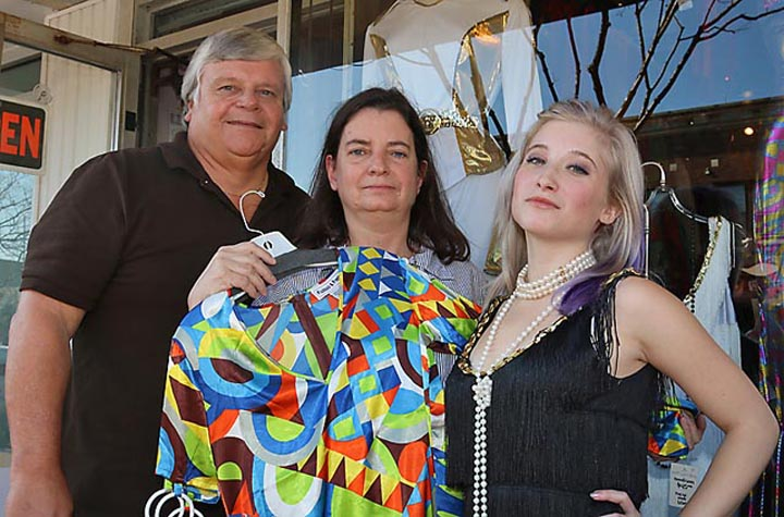 At Nostalgic Nonsense, vintage clothing store in Belmar, were Caitlin Stansbury and Ken and Pat Tecza.