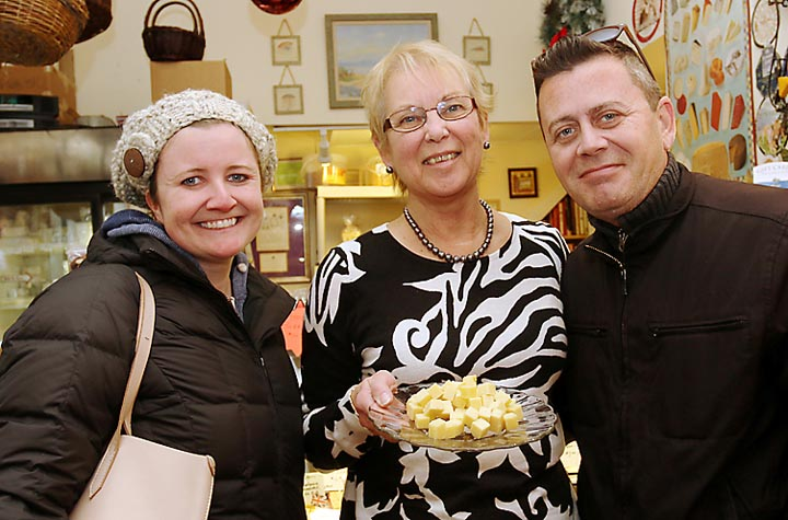 At Cheese on Main in Ocean Grove were Catherine Dill, Ocean Grove; Sue Morris, shop owner and Keith Burns, Ocean Grove.