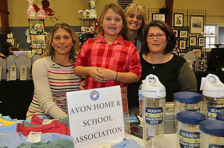 Collecting donations for the Avon Home and School Association were Peggy Reilly her daughter, Peggy, Lorraine Ernst and Lauren Hayser.