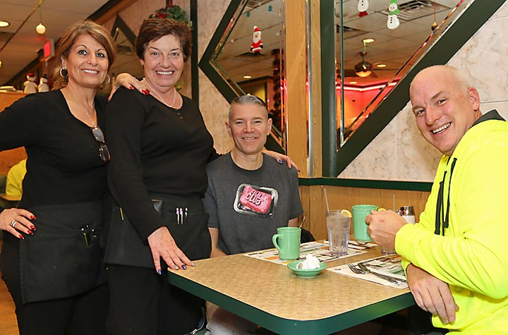 At the Sunset Diner in the Wanamassa section of Ocean Township Melek Kandirali and Sharon Kilic waited on Albert Wilcox and Jeff Rudell, both of Ocean Grove.
