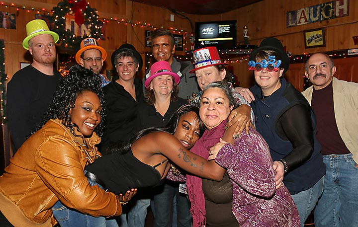 This group was at Georgie's Tavern in Asbury Park on New Year's Eve.