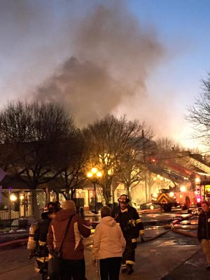 The Fri., Feb. 6, 2015 fire at 50 Main Avenue in Ocean Grove. Photo by Richard Virgilio.