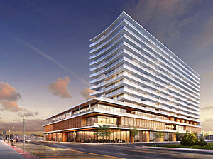 1101 Ocean, the former Esperanaza, will be a landmark mixed-use hotel/condomin-ium/retail project designed by New York's Handel Architects and will be one of the tallest buildings along the Jersey Shore.