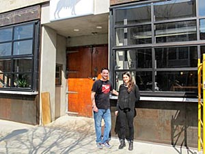 Charlie Interrante, manager of the new restaurants, and Anna Fasano who helped design them in Asbury Park.
