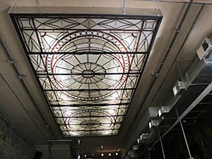 This stained glass is from the former Merchant's National Bank on Mattison Avenue in Asbury Park.