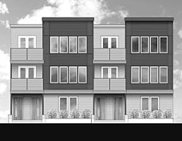 This is a sketch of the proposed townhouse project on Springwood Avenue in Asbury Park.