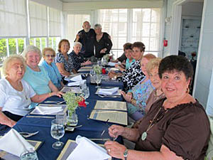 Coaster Photo - At the recent Bradleu Beach Senior Club meeting were (from left) Tomasina Scoran; Eileen Wade; Dora Solomini; Janis Falzarano; Midge Smith; Anthony Degano; Rae Tutela; Rebecca Wasson; Delores Kobus; Beverly Williams; Alice Kohlmann; Jennie Semansky and Marie Pagliucia.