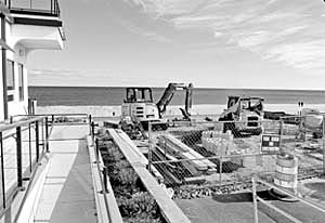 Coaster Photo - A new entrance to the Allenhurst beach is being constructed at Allen Avenue.