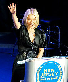 Coaster Photo by John Cavanaugh - TV personality Kelly Ripa was inducted into the New Jersey Hall of Fame.