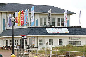 Coaster Photo - The Dunes Boardwalk Cafe at the north end of the Ocean Grove boardwalk is open for the season.