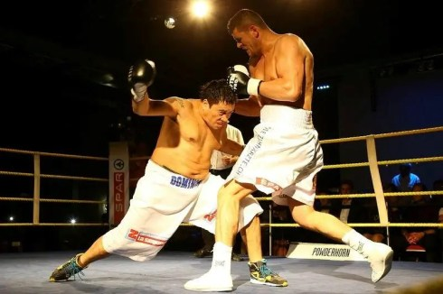 Arnold 'The Cobra' Gjergjaj won his fight #22 vs Nelson Dario Dominguez vom 11.05.2013 im Grand Casino, Basel by TKO in round 3