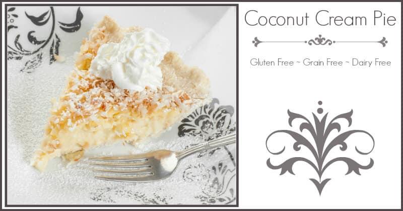 Coconut Cream Pie with Coconut Flour Crust