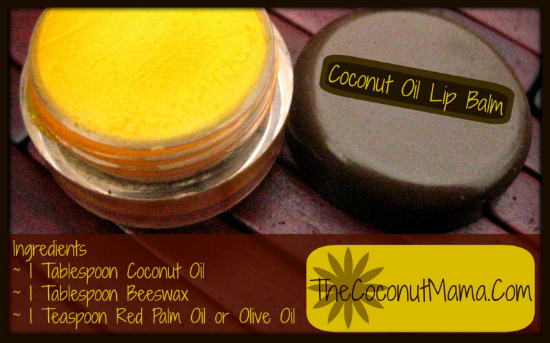 How to Make Coconut Lip Balm from The Coconut Mama