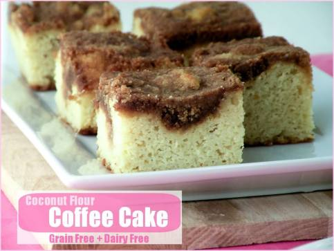 Coconut Flour Coffee Cake