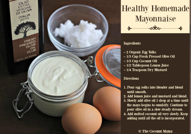 Healthy Homemade Mayonnaise with ingredients