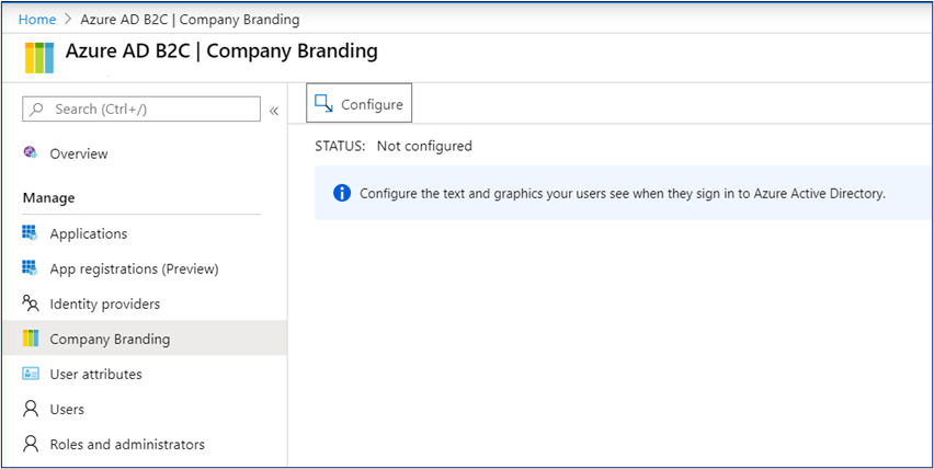 Azure AD B2C Company Branding Configurations