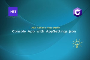How To Use Appsettings Json Config File With .NET Console Applications