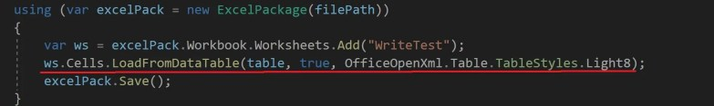 Read/Write Excel file in  NET Core using EPPlus | TheCodeBuzz