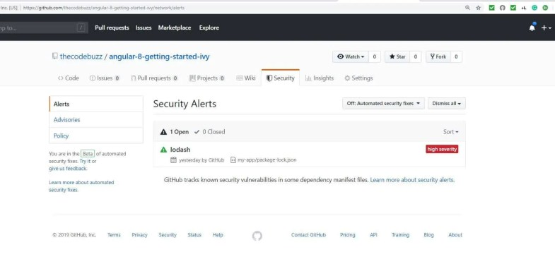 GitHub Security alerts on Vulnerabilities   TheCodeBuzz