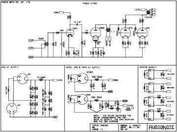 Schematics, Service manual or circuit diagram for Audio