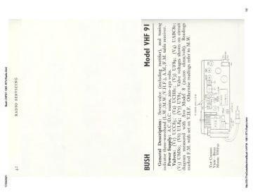 Schematics, Service manual or circuit diagram for Bush